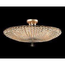 Beaded Crystal Six-Light Semiflush