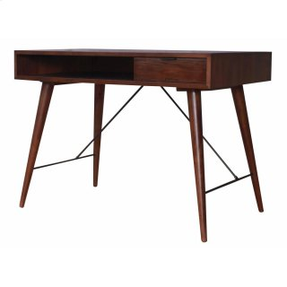 Franco Desk 1 Drawer, Dark Walnut