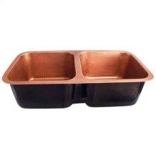 Severn Double Bowl Copper Undermount Kitchen Sink
