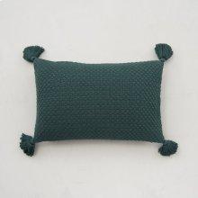 Carlisle Tassel Pillow - Emerald