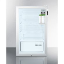 ADA Compliant Glass Door All-refrigerator for Built-in Use, With Digital Thermostat, Internal Fan, Lock, Temperature Alarm, and Hospital Grade Plug