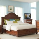 Windward Bay - Queen/king Bed Rails - Warm Rum Finish Product Image