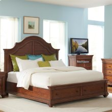 Windward Bay - Full/queen Arch Headboard - Warm Rum Finish