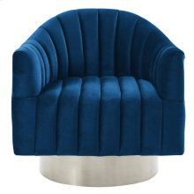 Cortina Accent Chair in Blue & Silver