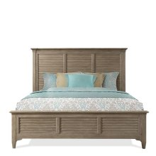 Myra Queen Louver Bed - Natural Finish