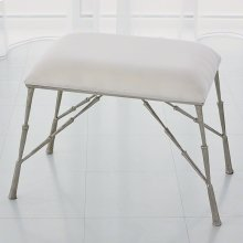 Spike Bench w/Muslin Cushion-Antique Nickel