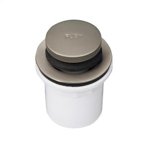 Push Button Tub Drain with PVC Adapter - Brushed Nickel Product Image