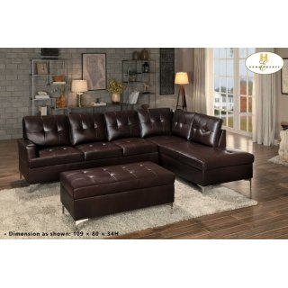 Barrington Ottoman Brown