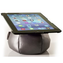 The Saddle Tablet Holder, Leather, Charcoal