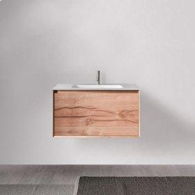 """45° FULL series 700 vanity, Natural Oak frame/Vintage Oak front; 27 1/2"""" w x 19"""" h x 20"""" d"""