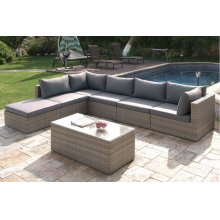 412 / Liz.p32- 7PC OUTDOOR PATIO SOFA SET [P50141(2)+P50143(3)+P50145(1)+P50151(1)]