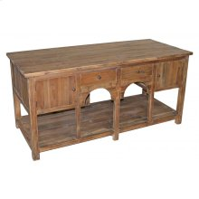 Large Pine Kitchen Island