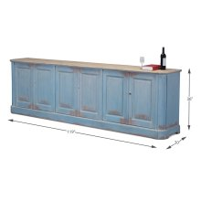 Sky Blue Sideboard