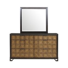 Hudson 6 Drawer Dresser in Gold and Black