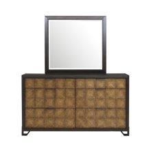 Hudson 6 Drawer Dresser in Gold and Black