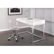 """Arthur Adjustable Swivel Chair, Clear, 24""""x24""""x34""""-39"""""""