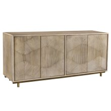 Bengal Manor White Wash Texture Door Sideboard