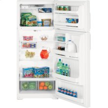 Hotpoint® 18.2 Cu. Ft. Top-Freezer Refrigerator (This is a Stock Photo, actual unit (s) appearance may contain cosmetic blemishes. Please call store if you would like actual pictures). This unit carries our 6 month warranty, MANUFACTURER WARRANTY and REBATE NOT VALID with this item. ISI 33855