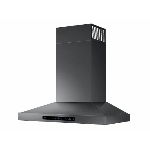 """30"""" Chef Collection Wall Mount Hood in Matte Black Stainless Steel"""