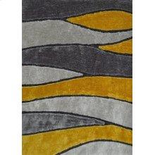 120 Gray Yellow Rug