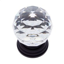 Oil Rubbed Bronze 50 mm Round Crystal Knob