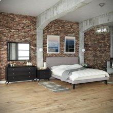 Bethany 5 Piece Queen Bedroom Set in Black Gray