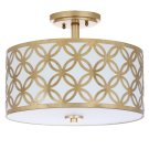 Cecily Leaf Trellis 3 Light 15-inch Dia Gold Flush Mount - Gold Product Image