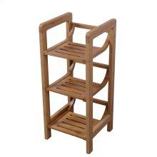 3-Shelf Freestanding Bamboo Towel Rack