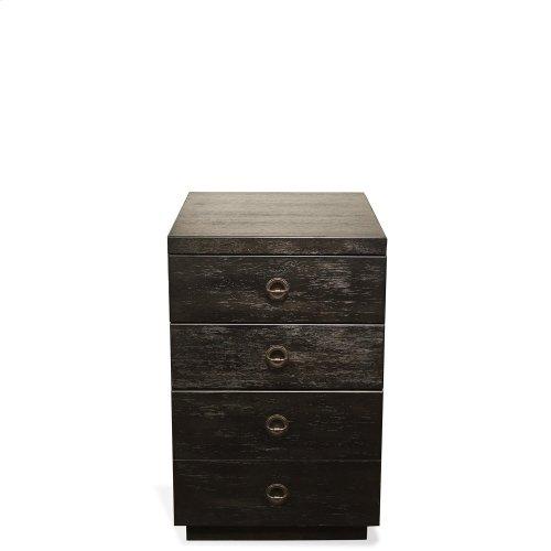Perspectives - Mobile File Cabinet - Ebonized Acacia Finish