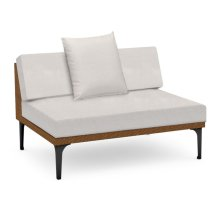 "47"" Outdoor Tan Rattan 2 Seat Centre Sofa Sectional, Upholstered in COM"