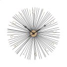 Shockfront Wall Clock in Black and Gold Product Image