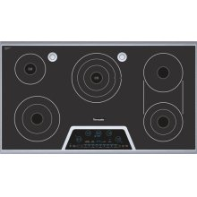 """Masterpiece 36"""" Electric Cooktop with Touch Control and Sensor Dome and Bridge Element CES366FS"""