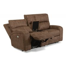 Rhapsody Power Reclining Loveseat with Console and Power Headrests *Available in Saddle Brown or Grey Microfiber*
