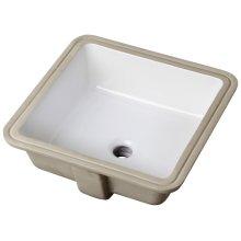 White Wicker Park Square Undercounter Bathroom Sink
