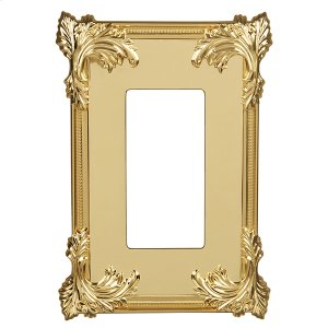 Acanthus Wall Plate - Polished Brass Product Image