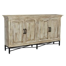Bengal Manor Distressed White Sideboard