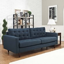 Empress Upholstered Fabric Sofa in Azure