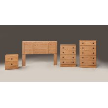 Oak Twin Headboard, Chest and Frame