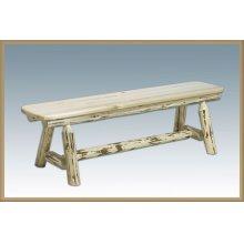 Montana Log Plank Style Bench