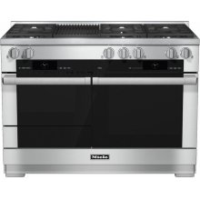 HR 1955-2 G 48 inch range Dual Fuel with M Touch controls, Moisture Plus and M Pro dual stacked burners