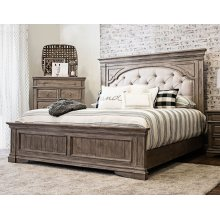 "Highland Park Queen Footboard, Waxed Driftwood 66.5""x3.5""x23"""
