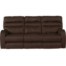Power Headrest w/Lumbar Reclining Console Loveseat