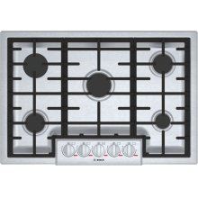 "Benchmark 30"" Gas Cooktop, 5 Burners, Stainless Steel"
