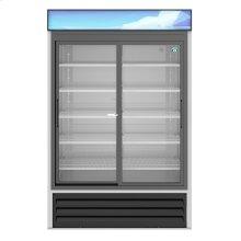 RM-45-SD-HC, Refrigerator, Two Section Glass Door Merchandiser