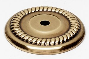 Rope Backplate A813-38P - Unlacquered Brass Product Image