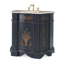 Floral Ebony Sink Chest