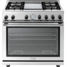 """Range NEXT 36"""" Panorama Stainless steel 4 gas, griddle and gas oven Product Image"""