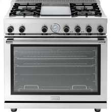 """Range NEXT 36"""" Panorama Stainless steel 4 gas, griddle and gas oven"""