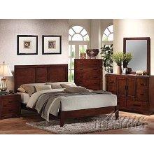 Cherry Oak Finish Queen Size Bedroom Set
