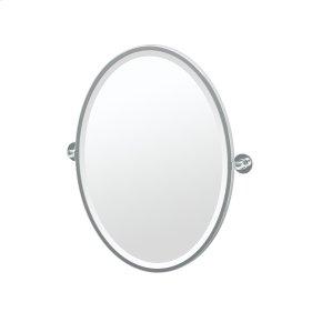 Terrace Framed Oval Mirror in Chrome